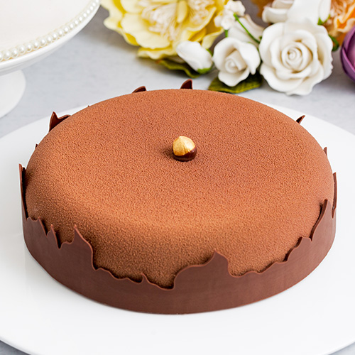 Dark Chocolate Praline Cake